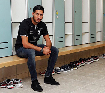 Emre Can in Umkleidekabine
